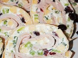 Holiday Turkey Pinwheel Appetizers with Goat Cheese and Apples