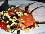 I'm Ready for the Weekend! Chipotle Pork Tenderloin with Roasted Corn Salad