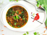 Instant Pot Spicy Asian Chicken Soup with Ginger, Garlic and Cilantro