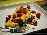 Keeping it Lean In-between with a Spinach Omelette and Savory Dijon Sauce