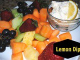 Light and Lemony Fruit Dip