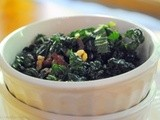 Massaged Kale and Sun Dried Tomato Salad with Crunchy Walnuts