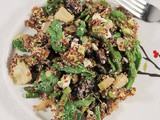 Mediterranean Asparagus and Quinoa Salad with Artichokes, Avocado and Feta
