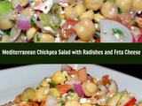 Mediterranean Chickpea Salad with Radishes and Feta Cheese