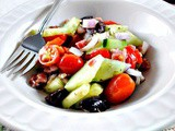 Mediterranean Crunchy Cucumber and Bell Pepper Salad