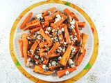 Mediterranean Sweet Potato Fries with Capers, Olives and Feta Cheese