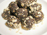 No Bake Energy Balls with Peanut Butter and Dark Chocolate