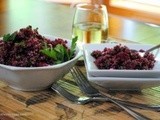 Quinoa Salad with Beets and Garlic Scapes
