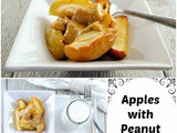 Roasted Apple Dessert with Peanut and Honey Sauce