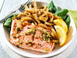 Roasted Salmon with Caramelized Fennel, Onion, Lemon and Thyme