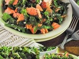 Salmon and Red Chard Salad with Lemon Basil Vinaigrette and Goat Cheese
