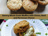 Savory Whole Grain Muffins with Basil and Parmesan Cheese and a Krusteaz Giveaway