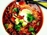 Slender Beef and Black Bean Taco Soup with Winking Girl Taco Skillet Sauce