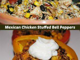 Super Healthy Mexican Stuffed Peppers with Chicken and Rice