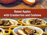Sweet and Tender Baked Apples with Cranberries and Cashews
