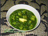 Aloo Palak / Alu Palak / Potatoes in Spinach Gravy