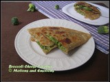Broccoli Cheese Paratha
