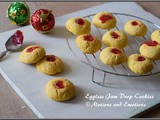 Eggless Jam Drop Cookies or Thumbprint Cookies or Vanilla Flavoured Jam Drop Cookies