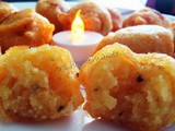 Poornam Boori (Stuffed Yellow Split Pea Sweet Dumplings) with Pongu Boori (Spicy Dumpling)