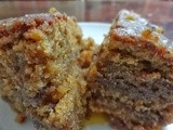 Wholewheat Pumpkin Walnut Almond Streusel Cake