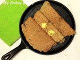 Adai Made with Brown Rice – Brown Rice and Lentils Crepe