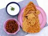 Besan Ki Masala Roti with Gajar Methi Subzi From Haryana – Spice filled Chick pea flour flatbread with Carrot and Fenugreek leaves Curry