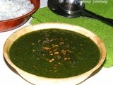 Keerai Milagootal/Molagootal – Spinach cooked with lentils and coconut