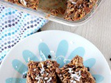 No Bake Peanut Butter Cereal Bar - Peanut Butter chocolate Cereal Bar