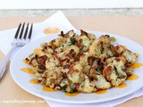 Oven Roasted Cauliflower with Cumin and Cilantro