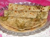Stuffed Methi Paratha  - Stuffed Fenugreek Leaves Paratha