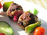 Indian Style Meatball Kabobs
