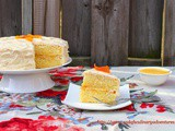Orange Chiffon Cake with Orange Curd filling and Cream Cheese frosting