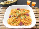 Spiced Vegetable Pulao - Quick one pot meal