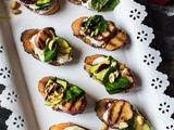 Peach Bruschetta with Whipped Ricotta and Zucchini | Video Recipe