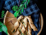 Pizza Twists | Pizza Dough Twists With Parsley And Sesame Recipe Video