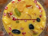 Custard with Mixed Fruits,DryFruits & Vegs