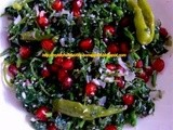 Pomegranate-Greens Salad - (a Microwave Recipe)