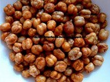 Roasted Chickpeas (Channadal) - a microwave recipe