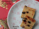 A Great New Year with a Great New Start ~Roselle and Chocolate Chip Layer Cake 新的一年,新气象。天天好天 ~落神巧克力豆千层糕