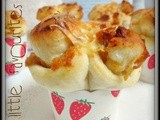 Cheesy chicken floss cuppy buns...芝士鸡松杯面包