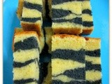 Double Colour Charcoal Butter Cake..双色竹碳牛油蛋糕
