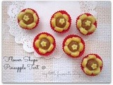 Flower Shaped Pineapple Tart..黄梨花挞