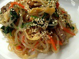 JapChae (Sweet potato starch stir fry with vegetable: 잡채)