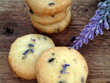 Lavender and Lemon Sable Cookies ~薰衣草柠檬奶油饼干