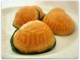 Orange sweet potato Angkoo Kueh ~ 橙番薯'红'龟糕