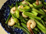 Stir fry Leek Flower with Prawn ~蒜花炒虾仁