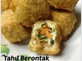Tahu Berontak (Deep-fried stuffed tofu puff) ..包菜酿豆卜- aff Indonesia