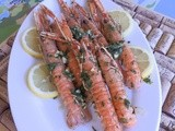 Barbecue style  langoustines with cumin