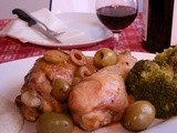 Chicken with herbs and olives
