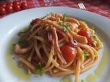 Linguine in a spicy squid sauce